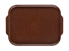 Поднос столовый 450х355 мм с ручками коричневый