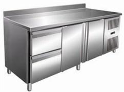 Стол с охлаждаемым шкафом COOLEQ GN3220TN бортик 2 ящика+2 двери