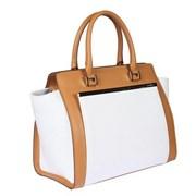 494406 tan-white Женская сумка Gianni Conti