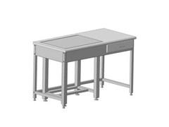 Стол для весов с приставкой 1200х600х750