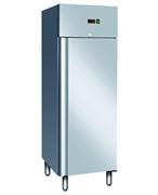 Холодильный шкаф GASTRORAG GN650 TN -2…+8оС, 700 л, 1 дверца с замком, 3 полки-решетки  GN 2/1 с направляющими, нерж.сталь 304