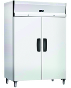 Холодильный шкаф GASTRORAG GN1200TNB -2…+8оС, 1173 л, 2 дверцы с замками, 6 полок-решеток с направляющими, материал корпуса снаружи - окраш.сталь, внутри - алюминий