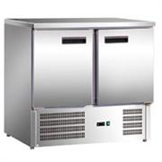 """Холодильник-рабочий стол GASTRORAG S901 SEC """"мини"""", +2...+8oC, 260 л, 2 дверцы, 2 полки-решетки GN 1/1 с направляющими, снаружи - нерж.сталь 304/430, внутри - алюминий"""