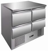 """Холодильник-рабочий стол GASTRORAG S901 SEC 4D """"мини"""", +2...+8oC, 260 л, 2 секции ящиков 2 х 1/2, материал корпуса снаружи - нерж.сталь 304/430, внутри - алюминий"""
