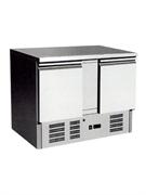 """Морозильник-рабочий стол GASTRORAG SNACK SS45BT ECX """"мини"""", -10...-20oC, 260 л, 2 дверцы, 2 полки-решетки с направляющими, столешница без борта, снаружи - нерж.сталь 430, внутри - алюминий"""