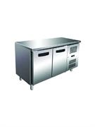 Морозильник-рабочий стол GASTRORAG GN 2100 BT ECX -10...-20оС, 300 л, 2 дверцы, 2 полки-решетки GN 1/1 с направляющими, столешница без борта, снаружи - нерж.сталь 304/430, внутри - алюминий
