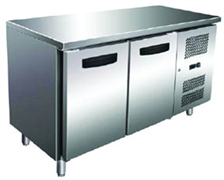 Холодильник-рабочий стол GASTRORAG SNACK 2100 TN ECX -2...+8оС, 250 л, 2 дверцы, 2 полки-решетки с направляющими, столешница без борта, снаружи - нерж.сталь 304/430, внутри - алюминий