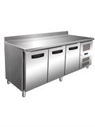 Морозильник-рабочий стол GASTRORAG GN 3200 BT ECX -10...-20оС, 450 л, 3 дверцы, 3 полки-решетки GN 1/1 с направляющими, столешница с бортом, снаружи - нерж.сталь 304/430, внутри - алюминий
