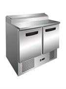 Холодильник-рабочий стол для пиццы GASTRORAG PS200 SEC +2...+10оС, 260 л, 2 дверцы, охлаждаемое гнездо с крышкой вместимостью 5 GN 1/6, снаружи - нерж.сталь 304/430, внутри - алюминий