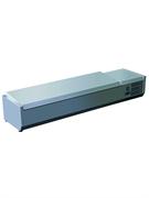 Витрина GASTRORAG VRX 1600/330 s/s настольная, охлаждаемая, +2…+8оС, с крышкой из нерж.стали, размеры гнезда 1245х245х155 мм, вместимость 8 GN 1/4, нерж.сталь 304