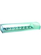 Витрина GASTRORAG RTS-132W настольная, охлаждаемая, 0...+12оС, 78 л, вместимость 8 GN 1/3-40 мм, выпуклое переднее стекло, цвет белый