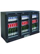 Холодильный шкаф витринного типа GASTRORAG SC315G.A +2…+8оС, 382 л, 3 распашные стеклянные дверцы с замками, подсветка, 3 полки-решетки, цвет черный