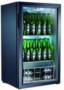 Холодильный шкаф витринного типа GASTRORAG BC98-MS 0…+10оС, 98 л, внутренние размеры камеры 470х410х740 мм, 1 распашная стеклянная дверца, подсветка, 2 полки-решетки, цвет черный