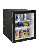 Холодильный шкаф витринного типа GASTRORAG CBCW-35B компрессорный, хладагент R600a, no frost, +3...+10оС, 35 л, 1 стеклянная дверца, 2 полки-решетки, подсветка, цвет черный