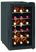 Холодильный шкаф для вина GASTRORAG JC-48 термоэлектрический (без компрессора), +12...+18оС, 48 л, 1 стеклянная дверца, подсветка, вместимость 18 бутылок 0,75 л, цвет черный
