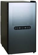 Холодильный шкаф для вина GASTRORAG JC-48DFW термоэлектрический (без компрессора), 2 температурные зоны (+12...+18оС/+8...+18оС), 48 л, 1 дверца с окном, подсветка, вместимость 18 бутылок 0,75 л, цвет черный