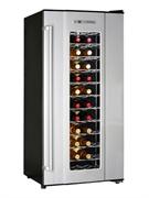 Холодильный шкаф для вина GASTRORAG JC-180A термоэлектрический (без компрессора), +12...+18оС, 180 л, 1 стеклянная дверца, подсветка, вместимость 72 бутылки 0,75 л, цвет черный