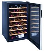 Холодильный шкаф для вина GASTRORAG JC-128 +5...+18оС, 128 л, 1 стеклянная дверца, подсветка, 7 выдвижных деревянных полок, вместимость 45 бутылок 0,75 л, металлический корпус, хладагент R134a