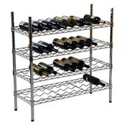 Стеллаж GASTRORAG 1448-55W для вина, сборный, 4 профилированные полки-решетки из проволоки, 4 стойки, хромир.сталь