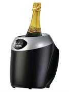 Охладитель бутылок GASTRORAG JC8611 термоэлектрический (без компрессора), 3 рабочих температуры (шампанское, белое вино, красное вино), вместимость 1 бутылка диаметром до 100 мм, цвет черный, в комплекте с сетевым адаптером DC 12V 5A
