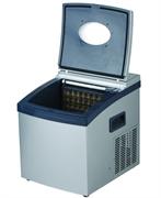 Льдогенератор кускового льда GASTRORAG DB-02 настольный, автономный, емкость резервуара 1,5 л, производительность 10-15 кг/сутки (24 кубика за 20 минут), 2 размера кубиков, бункер для хранения льда вместимостью 1,0 кг, нерж.сталь