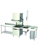 Посудомоечная машина GASTRORAG HDW-80 колпаковая, длительность рабочего цикла 70/100/130 сек, производительность до 50 кассет/ч, размеры кассеты 500х500 мм, высота посуды до 420 мм, в комплекте 2 кассеты и корзина для столовых приборов