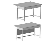 Стол приборный упрощенный 1515x610x850