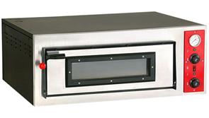 Печь для пиццы GASTRORAG EPZ-4 электрическая,  температура выпечки 50-450оС, 1 модуль c керамическим подом и подсветкой, размеры камеры 660х660х135 мм, нерж.сталь