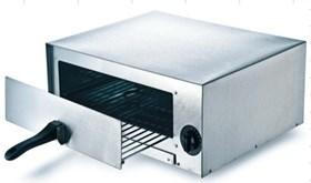 Печь для пиццы GASTRORAG EPZ-02 электрическая, 1 модуль с выдвижной решеткой и поддоном для крошек, вместимость 1 пицца диаметром 30 см, верхний и нижний нагрев, температура 60-260оС, таймер 0-30 мин, нерж.сталь