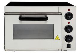 Печь для пиццы GASTRORAG EPZ-1M электрическая,  1 модуль, размеры камеры 350х350х200 мм, дверца со смотровым окном, керамический под, независимый верхний и нижний нагрев, макс.температура выпечки 350оС, таймер 0-30 мин