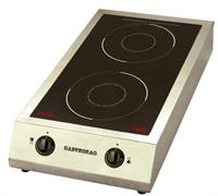 Плита GASTRORAG TZ BT-700A3 электрическая, настольная, индукционная, 2 зоны нагрева, 2 ручки регулировки мощности