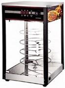 Мармит-дисплей GASTRORAG HW-815 электрический, панорамный, с увлажнением, 4-ярусная структура под круглые противни для пиццы