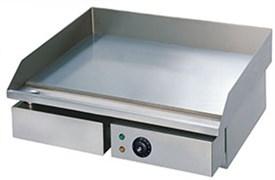 Сковорода GASTRORAG GH-EG-818E электрическая, настольная, гладкая рабочая поверхность из стали толщиной 8 мм с 1 зоной нагрева, бортиком и жиросборником, материал корпуса - нерж.сталь