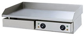 Сковорода GASTRORAG GH-EG-820E электрическая, настольная, гладкая рабочая поверхность из стали толщиной 8 мм с 2 зонами нагрева, бортиком и жиросборником, материал корпуса - нерж.сталь