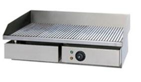 Сковорода GASTRORAG GH-EG-821E электрическая, настольная, рифленая рабочая поверхность из стали толщиной 8 мм с 1 зоной нагрева, бортиком и жиросборником, материал корпуса - нерж.сталь