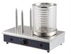 Мармит GASTRORAG HDW-03 для сосисок и булочек, электрический, контейнер из закаленного стекла 200x240 мм с корзиной и крышкой, 3 штыря для булочек диаметром 15 мм, высотой 194 мм, нерж.сталь
