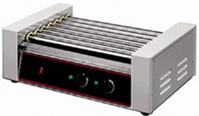 Роликовый гриль GASTRORAG HHD-09 электрический, настольный, 9 роликов, 2 зоны нагрева (4 передних ролика, 5 задних), нерж.сталь