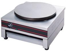 Блинница GASTRORAG HCM-1 электрическая, настольная, 1 стальная пластина диаметром 400 мм с антипригарным покрытием, материал корпуса - нерж.сталь