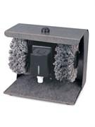 Машина для чистки обуви GASTRORAG JCX-9 электрическая, ножное управление, контейнер для крема с дозатором, 2 щетки для полировки из терилена, тканевый коврик для чистки подошв, материал корпуса - окрашенная сталь