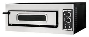 Печь для пиццы GEMLUX GEP 1/50 VETRO электрическая, 1 модуль с керамическим подом и подсветкой, дверца со смотровым окном, рабочая температура 50-500оС, независимое управление верхними и нижними ТЭНами, размеры камеры 620х500х120 мм