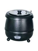 Мармит GEMLUX GL-SK600D электрический, настольный, для супов, электронное управление, 30-90оС, вставка емкостью 10 л из нерж.стали с откидной крышкой, материал корпуса - окрашенная сталь