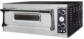 Печь для пиццы GEMLUX GEP 4 электрическая, 1 модуль с керамическим подом, подсветкой и термометром, камера 660х660х140 мм, дверца со смотровым окном, рабочая температура 50-500оС, независимое управление верхними и нижними ТЭНами