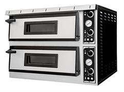Печь для пиццы GEMLUX GEP XL 44 электрическая, 2 модуля с керамическим подом, подсветкой и термометром, камера 720х720х140 мм, дверцы со смотровыми окнами, раб. температура 50-500оС, независимое управление верхними и нижними ТЭНами
