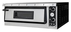Печь для пиццы GEMLUX GEP XL 6 электрическая, 1 модуль с керамическим подом, подсветкой и термометром, камера 720х1080х140 мм, дверца со смотровым окном, раб. температура 50-500оС, независимое управление верхними и нижними ТЭНами