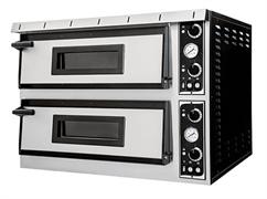Печь для пиццы GEMLUX GEP XL 66 электрическая, 2 модуля с керамическим подом, подсветкой и термометром, камера 720х1080х140 мм, дверцы со смотровыми окнами, раб. температура 50-500оС, независимое управление верхними и нижними ТЭНами