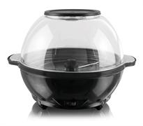 Аппарат для попкорна GEMLUX GL-PM-1R электрический, объем 5,2 л, платформа с антипригарным покрытием, вращающаяся мешалка, прозрачная крышка-чаша для готового попкорна, загрузка 150 г, рабочий цикл 2-5 мин, пластмасса, цвет черный