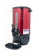 Кипятильник GEMLUX GL-WB16R настольный, автономный (наливной), двойные стенки с термоизоляцией, емкость резервуара 10 л, закрытый ТЭН, терморегулятор (30-110оС), мерное стекло, сливной кран, каплесборник, цвет красный