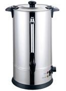 Кипятильник GEMLUX GL-WB-100S настольный, автономный (наливной), одинарные стенки, емкость резервуара 10 л, закрытый ТЭН, терморегулятор (30-110оС), мерное стекло, сливной кран, нерж.сталь 304