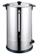 Кипятильник GEMLUX GL-WB-200S настольный, автономный (наливной), одинарные стенки, емкость резервуара 18 л, закрытый ТЭН, терморегулятор (30-110оС), мерное стекло, сливной кран, нерж.сталь 304