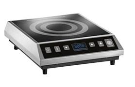 Плита GEMLUX GL-CIC27 электрическая, настольная, индукционная, 1 зона нагрева размером 280х280 мм, сенсорное управление, 8 уровней мощности (500-2700 Вт), рабочая температура 60-240оС, таймер 0-2 ч 59 мин, нерж.сталь